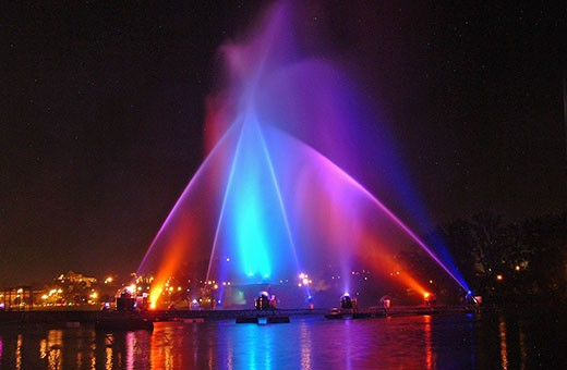 Ada Ciganlija laser and water show