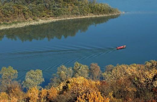 The Danube river near Čortanovaca, NP Fruška gora