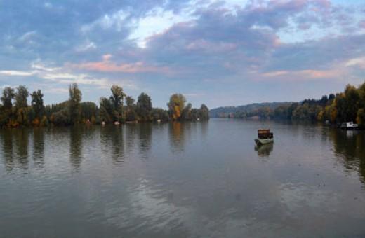 The river Danube near Grocka near Belgrade