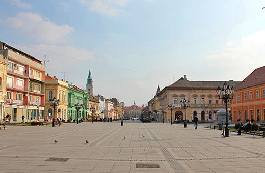 The town square in Sombor