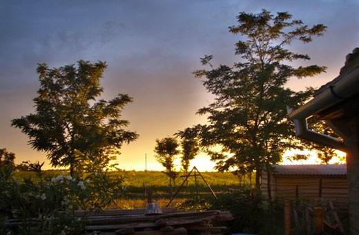 Sunset, Brkin farmhouse - Čenej, Novi Sad