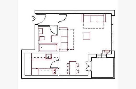 Raspored prostorija, Apartman Skadarlija 3 - Beograd