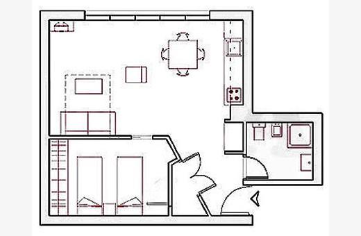 Raspored prostorija, Apartman Little Bay - Beograd