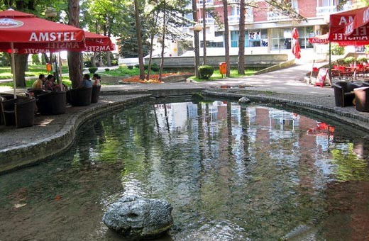 Thermal water in park of Niška Banja