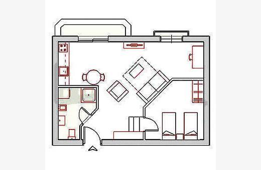 Raspored prostorija, Apartman Terazije - Beograd