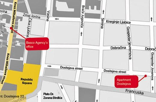 Pozicija na mapi, Apartman Little Bay - Beograd