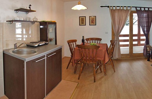 "Apartment 1 kitchen and dining room, Apartments ""Tarska kuća Viva"" - Tara"