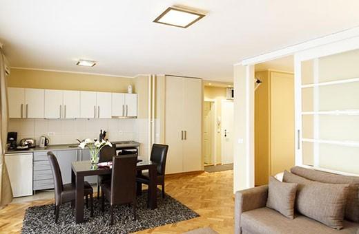 Kuhinja i trpezarija, Apartman Little Bay - Beograd