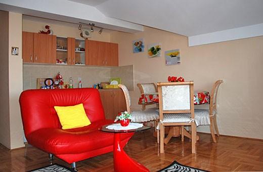 Kitchen, Red apartment - Apartments Makojevic, Vrnjačka banja