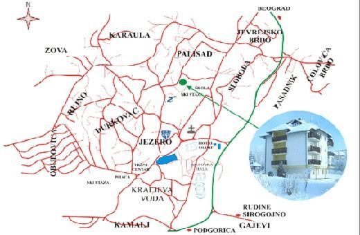 Pozicija na mapi, Apartman Milivojević - Zlatibor