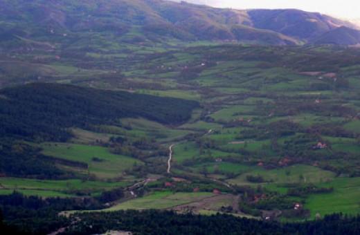 View from mountain Maljen, Divčibare