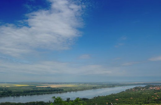 The Danube river somewhere in the Banat