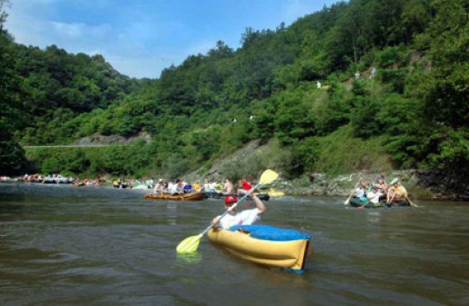 Rafting on the river Ibar