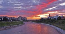 Twilight on the Nišava river - Niš