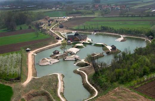 """From the air, Ethno village """"Moravski konaci"""" - Velika Plana"""