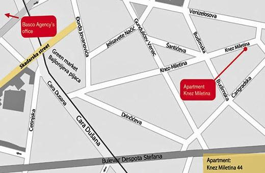 Position, Apartment Skadarlija 2 - Belgrade