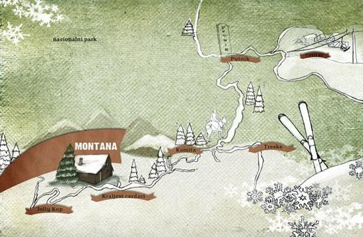 Position, Hostel Montana - Koponik