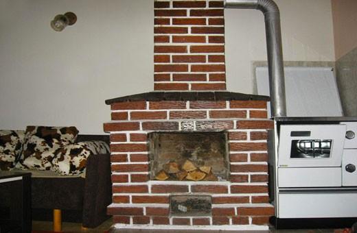 Fireplace in the iving room, Ski house - Kopaonik